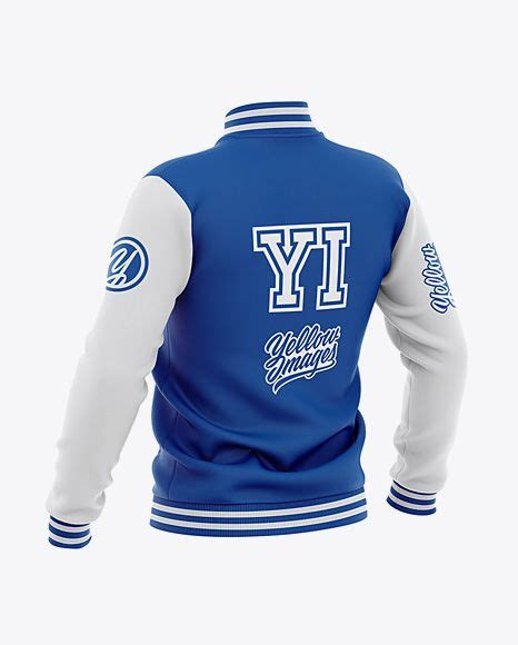 Your resource to discover and connect with designers worldwide. Men's Varsity Jacket Mockup - Back Half-Side View ...