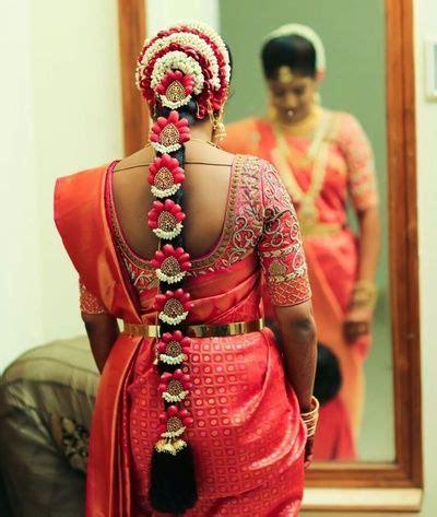 long braid gajra hairstyle south indian hair accessories