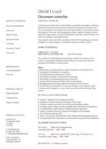resume format exles documentation document controller cv sle job description file validation