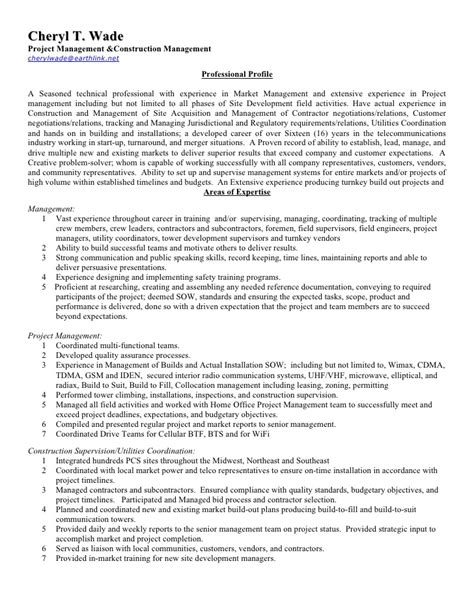 Tower Climber Resume Exle by Cheryl Wade Resume W References Revised 10 11 09 Compat Word V