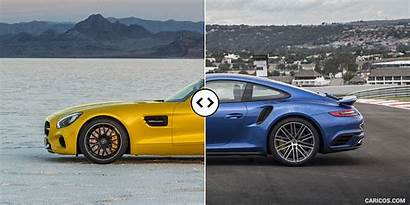 Porsche 911 Amg Mercedes Gt Side Turbo
