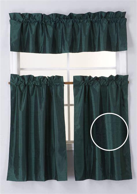 hunter green  piece blackout rod pocket kitchen window
