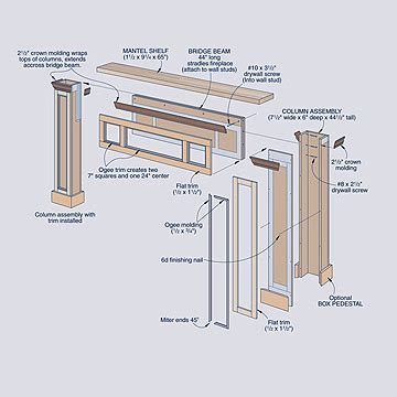 wood work diy fireplace mantel surround plans  plans