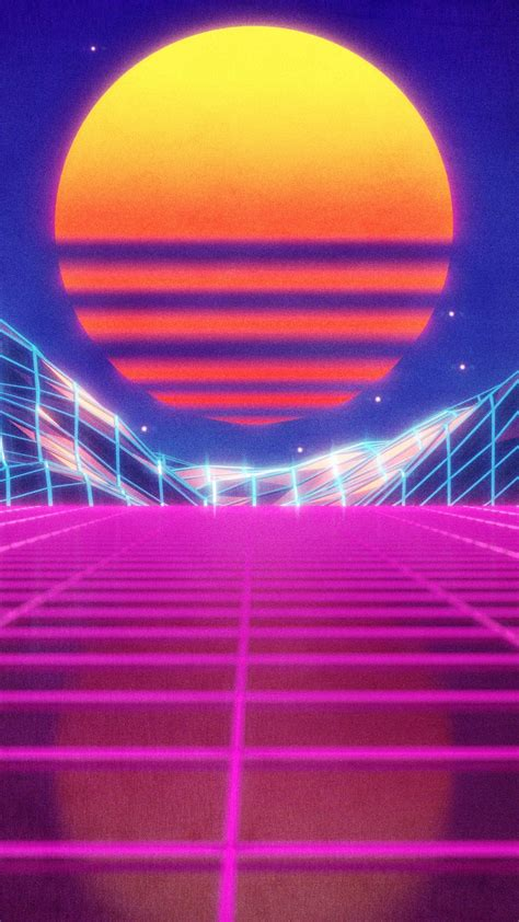 Artistic Aesthetic Retro Orange Aesthetic Wallpaper by 76 Neon 80s Wallpapers On Wallpaperplay