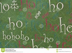 Blue And White Holiday Lights Christmas Ho Ho Ho Background Horizontal Stock Photo