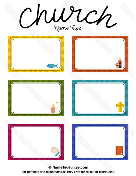 Name Tag Template Free Printable by Free Printable Church Name Tags The Template Can Also Be