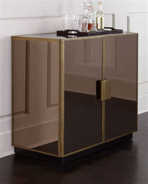 mirrored bar cabinet elsa mirrored bar cabinet