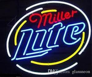 New Miller Lite Real Glass Neon Sign Light Beer Bar Arts