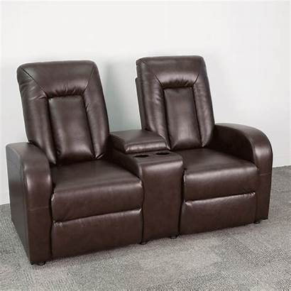 Recliner Leather Brown Theater Seating Push Bt
