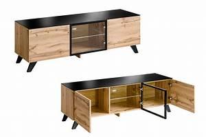 Meuble Bas Salon : meuble tv bas en bois scandinave novomeuble ~ Teatrodelosmanantiales.com Idées de Décoration