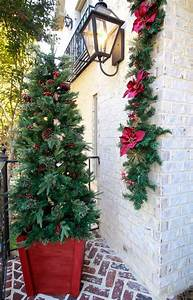 Holiday, Tree, Planter, And, Bringing, Christmas, To, The, Front, Porch