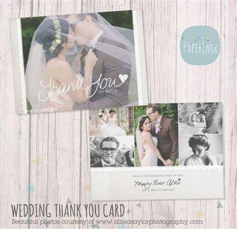 wedding thank you card photoshop template wedding thank you card photoshop template aw020