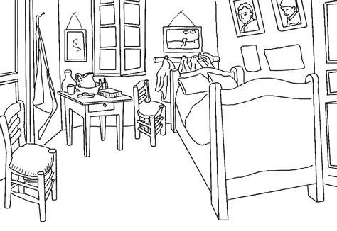 description de la chambre de gogh dessins de monuments à colorier
