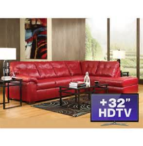 7pc living room package with tv art van furniture