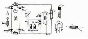 Mains Ac Xenon Tube Flasher Circuit