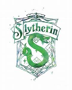 Slytherin Crest Mixed Media by Monn Print