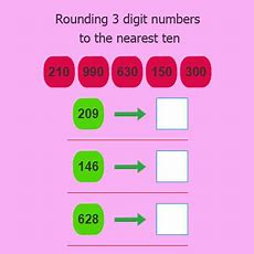 Rounding 3 Digit Numbers To The Nearest Ten  Rounding Numbers