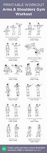 Arms  U0026 Shoulders Gym Printable Workout Guide
