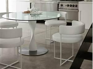 Petite Table En Verre : table a manger ronde design ~ Teatrodelosmanantiales.com Idées de Décoration