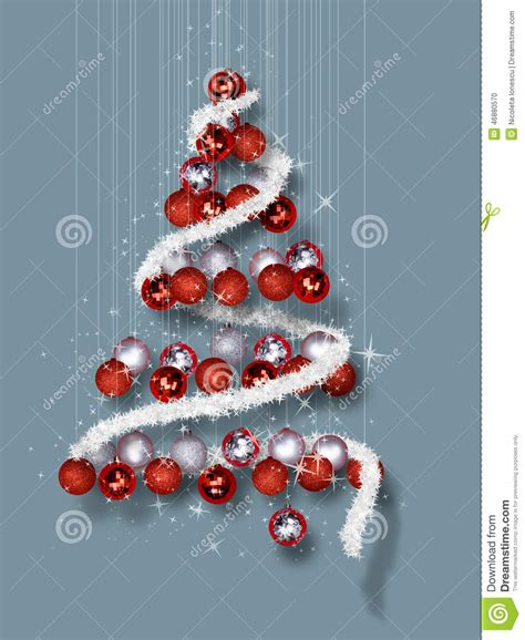 christmas tree   ornaments  blue background stock