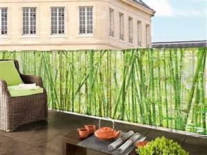 26 ideen fur balkonverkleidung welche materialien eignen for Markise balkon mit tapete bambus muster