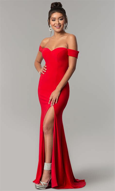Long Formal Off-the-Shoulder Prom Dress - PromGirl
