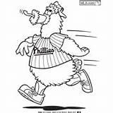 Phanatic Phillies Phillie Mascots Printablecolouringpages sketch template