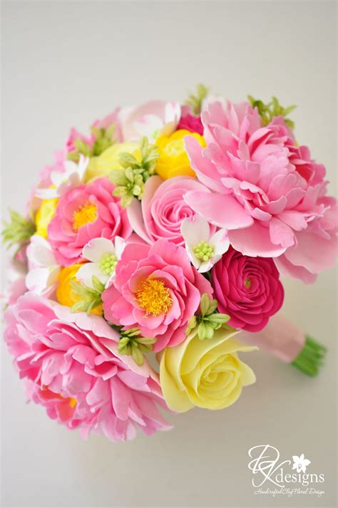 Dk Designs Pink And Yellow Wedding Bouquet For A Southern