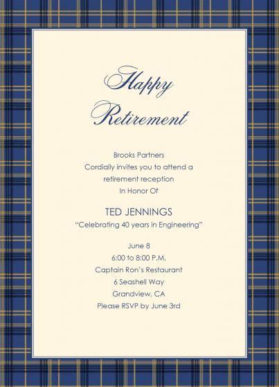 retirement party invitation wording