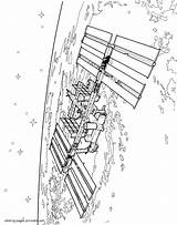 Coloring Pages Satellite Space Printable Orbital Boys sketch template