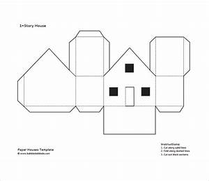 Paper house printable template google sok zima for Paper house templates to print