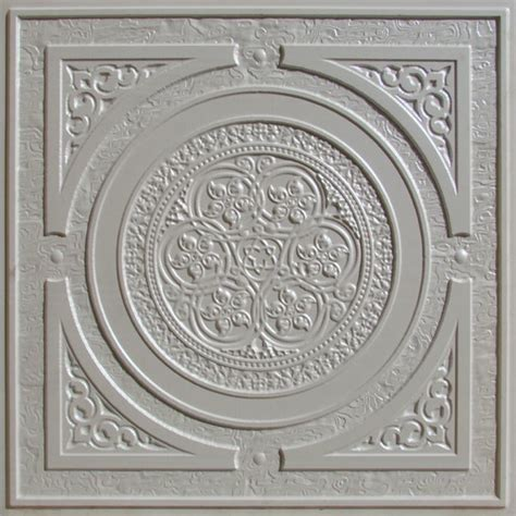 225 white pearl decorative ceiling tile 24x24 steunk