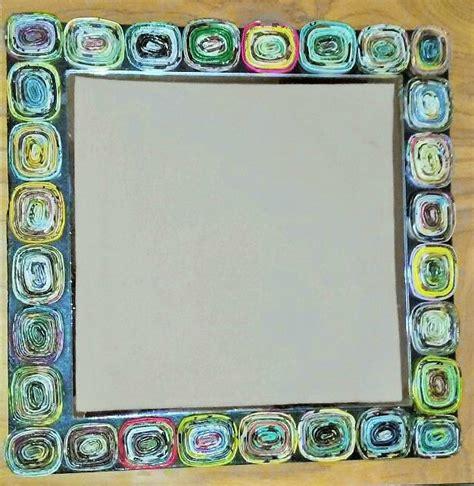 cadre photo en papier miroir cadre en papier enroul 233 emicr 233 ations