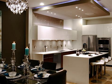 Ideas For Kitchens With White Cabinets - modern kitchen with suspended ceiling hgtv