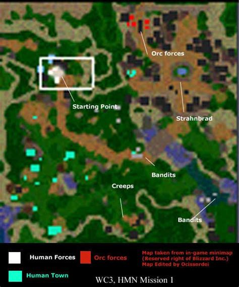 warcraft iii reign  chaos human campaign map jpg