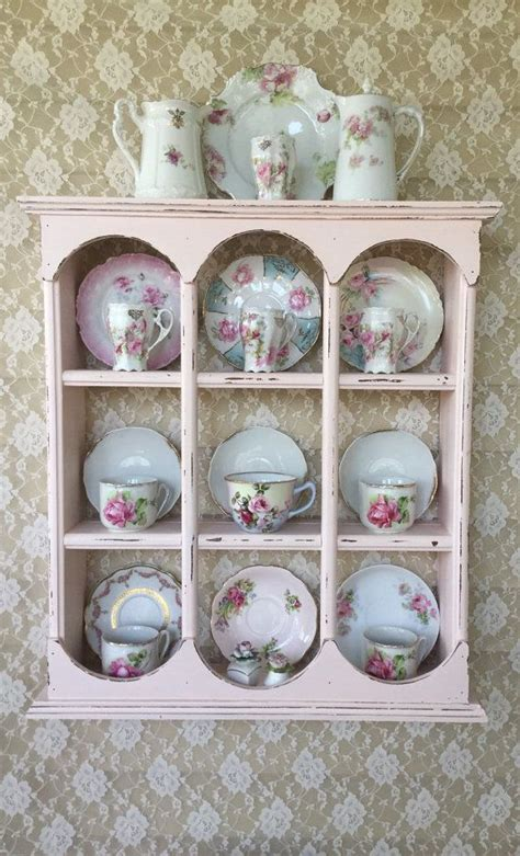 reserved  ar shabby pink plate rackteacup  fannypippin tea cup display tea set display