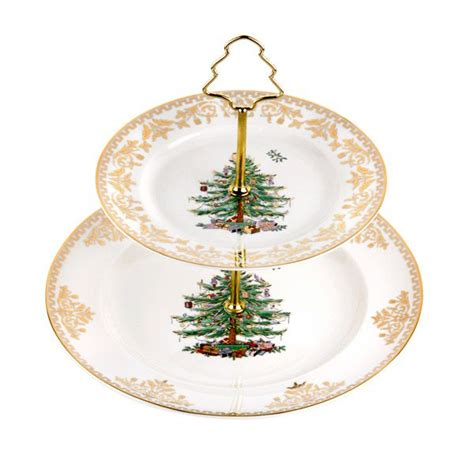 spode christmas tree holiday dinnerware silver superstore