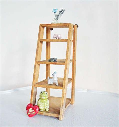 wood ladder shelf vintage wood ladder wall shelf mini display step brown rustic