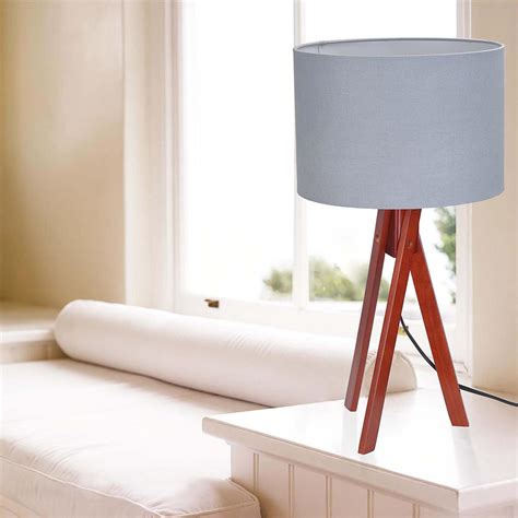 bedroom light stand modern tripod table desk floor lamp wood wooden stand home 10527 | 11dsl001 tri09 nut 08