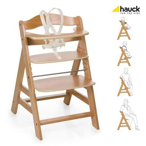hauck chaise haute en bois pour bebe evolutive alpha