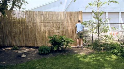 6 chain link fence installing a bamboo fence on a chain link fence