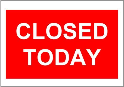 office will be closed sign template free sign templates office closed