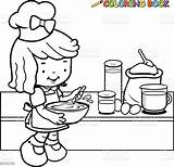 Coloring Cooking Outline Kitchen Clipart Vector Illustration Chef Drawing Clip Alamy Painting Illustrations Cartoon Children Apron Shutterstock Royalty Clipground Istockphoto sketch template