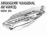 Coloring Carrier Aircraft Pages Navy Ship Cvn Template Battleship Sketch Naval Sheets sketch template