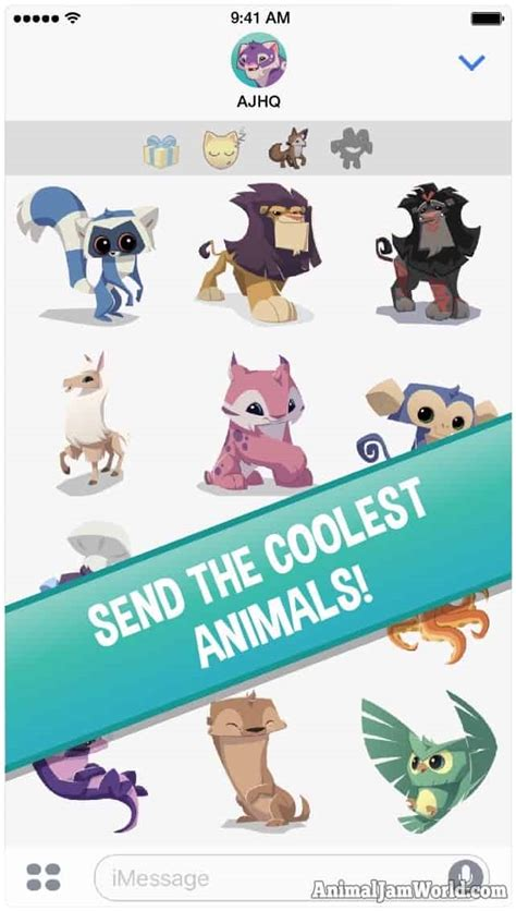 animal jam ios stickers app animals