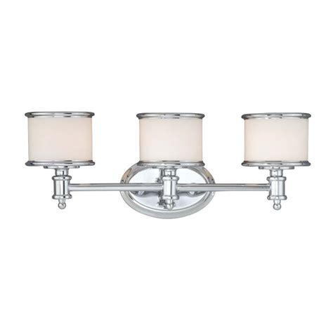 chrome bathroom vanity light shop cascadia lighting carlisle 3 light 22 25 in chrome