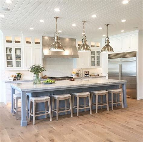 large white kitchen island exle of bar size different color scheme kitchens 6825