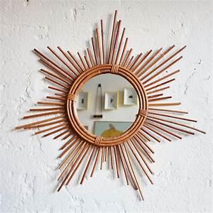 Petit Miroir Rotin : miroir rotin vintage ann es 50 ann es 60 atelier du petit parc ~ Melissatoandfro.com Idées de Décoration