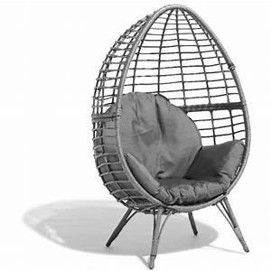 Fauteuil Jardin Gifi : fauteuil de jardin egg gris anthracite transat hamac mobilier de jardin jardin plein ~ Teatrodelosmanantiales.com Idées de Décoration