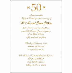 25 personalized 50th wedding anniversary party invitations With 50th wedding anniversary invitation wording